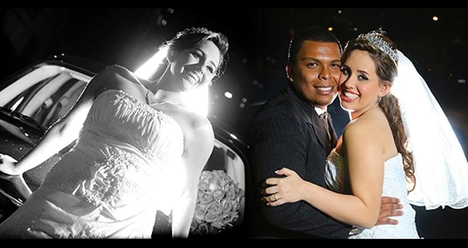 Daiana Alcantara e Luis Felipe casaram-se em 15 de agosto de 2014, em Ipiranga (SP)