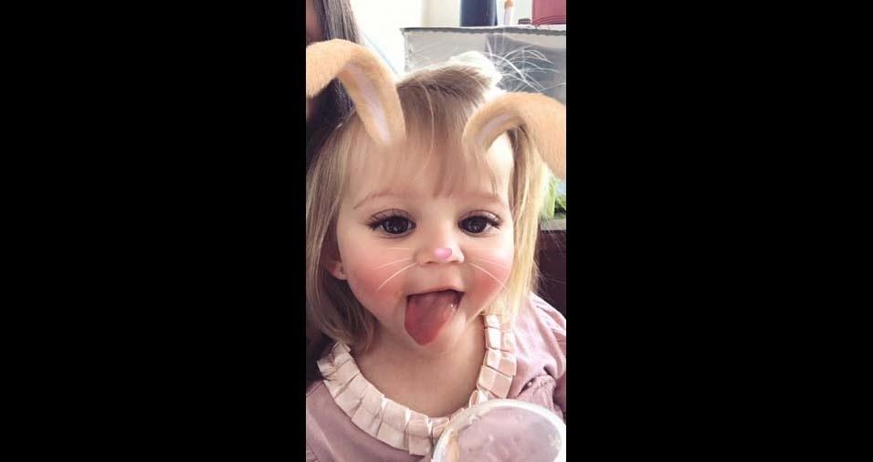A mãe Suze enviou foto da filha Sofia, de Silvianópolis (MG)