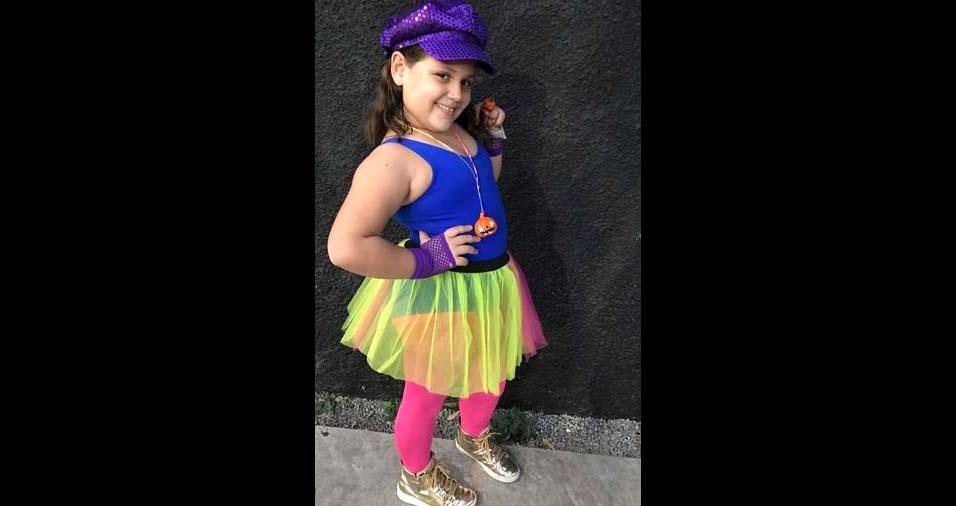 Silvia, de Santos (SP), enviou foto da filha Manuela, de nove anos