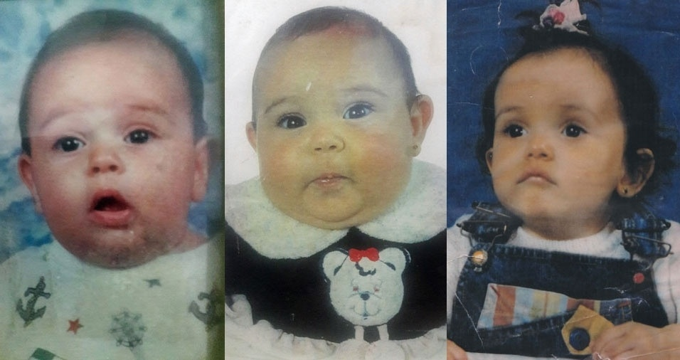 Marilza enviou foto dos filhos Gabriel, Luana e Kamila