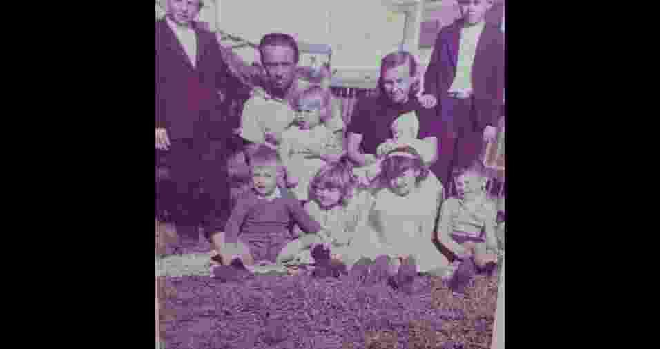 """Eliane Brasílio da Rocha, de Curitiba (PR), relembrou foto de família de 1966: """"Uma tarde de domingo para ficar na memória"""" - Arquivo pessoal"""
