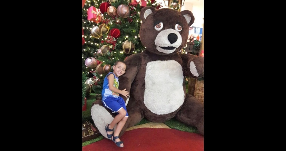 Sandra enviou foto do filho Jonas