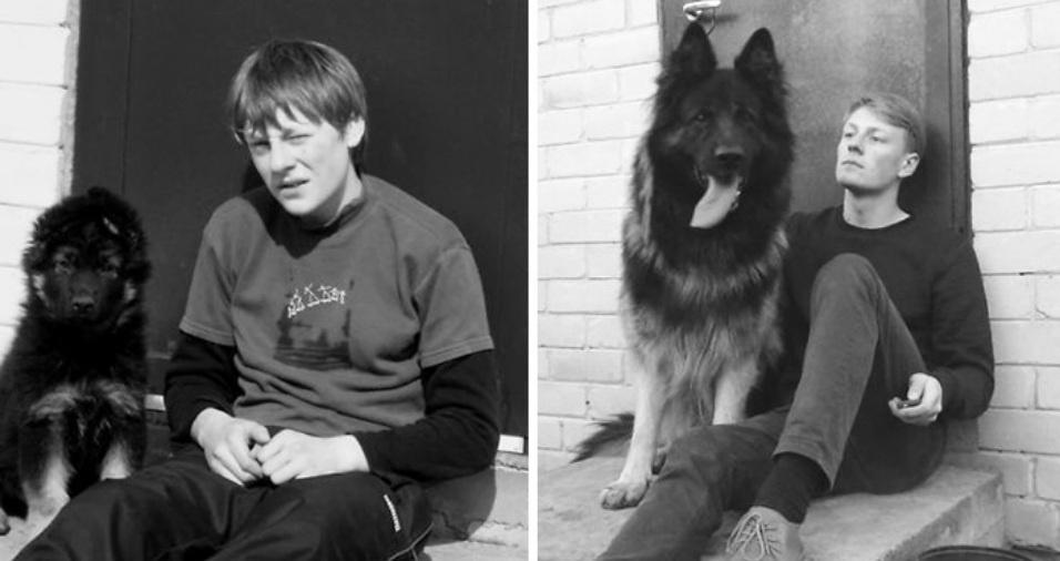 19. O cão ficou quase maior que seu próprio dono!