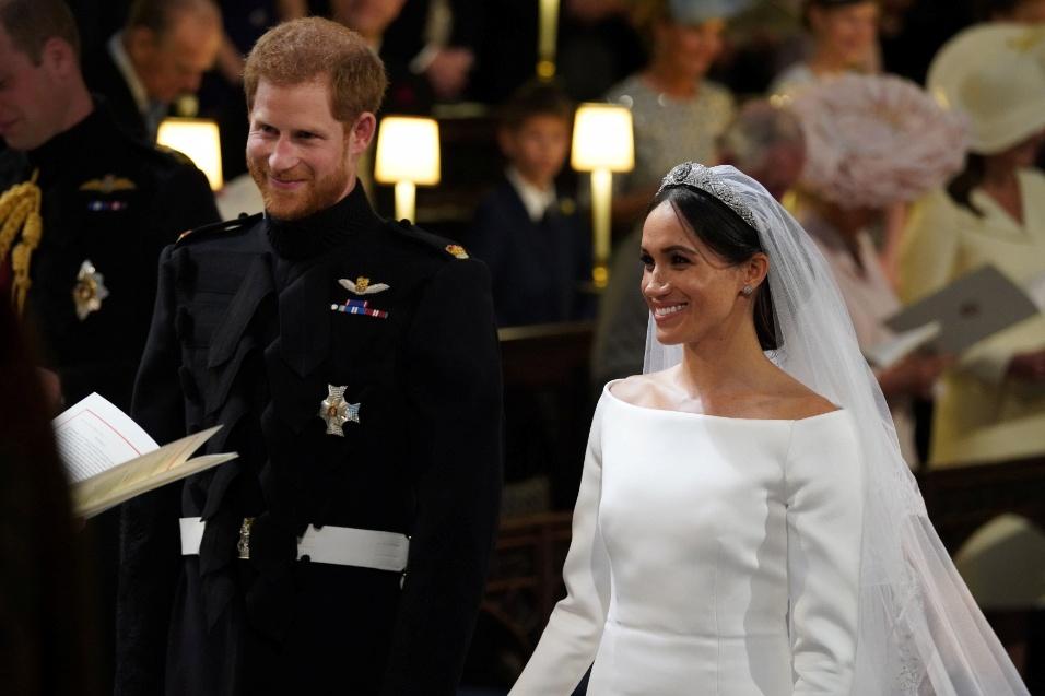 Príncipe Harry e Meghan Markle se casam na capela do Castelo de Windsor, na Inglaterra