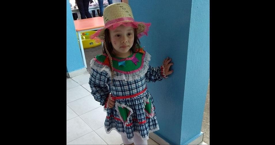 Denis de Sousa Nogueira, de Guarulhos (SP), enviou foto da filha Lorena Soares Nogueira, de quatro anos