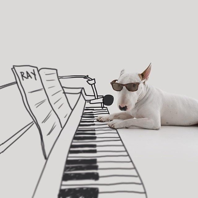 9.dez.2015 - Ilustrador brasileiro Rafael Mantesso homenageia o músico Ray Charles em ilustração no Instagram