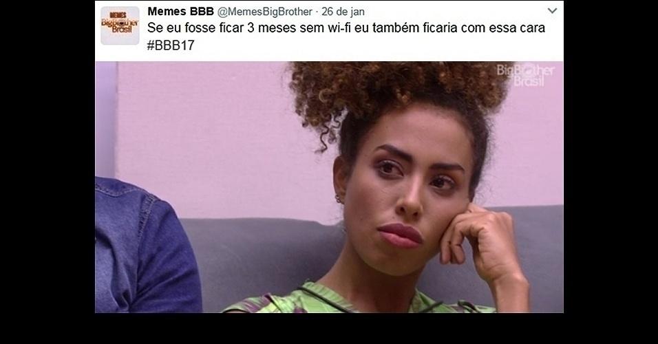 """27.jan.2017 - O """"BBB17"""" estreou nesta segunda-feira (23), e os memes estão divertindo a web. As caras e bocas da sister baiana Gabriela Flor estão estampando diversas montagens engraçadas"""