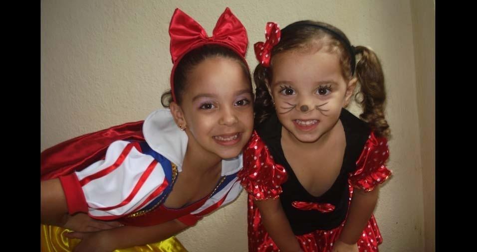 Alessandra, de Ribeirão Preto (SP), enviou foto das filhas Carolina, de dez anos, e Isabela, de seis anos