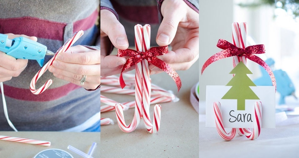 7. Use bengalinhas de Natal para determinar o lugar de cada convidado
