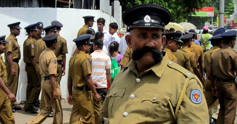 8. No Estado de Madhya Pradesh, os polícias recebem um bônus salarial para deixar o bigode crescer