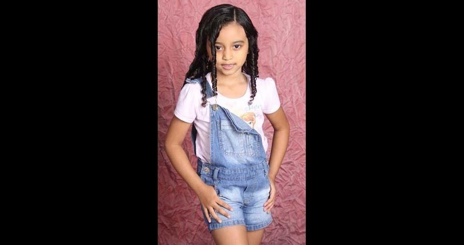 Rosinalva e Carlos, de Belém (PA), enviaram foto da filha Fernanda, de seis anos