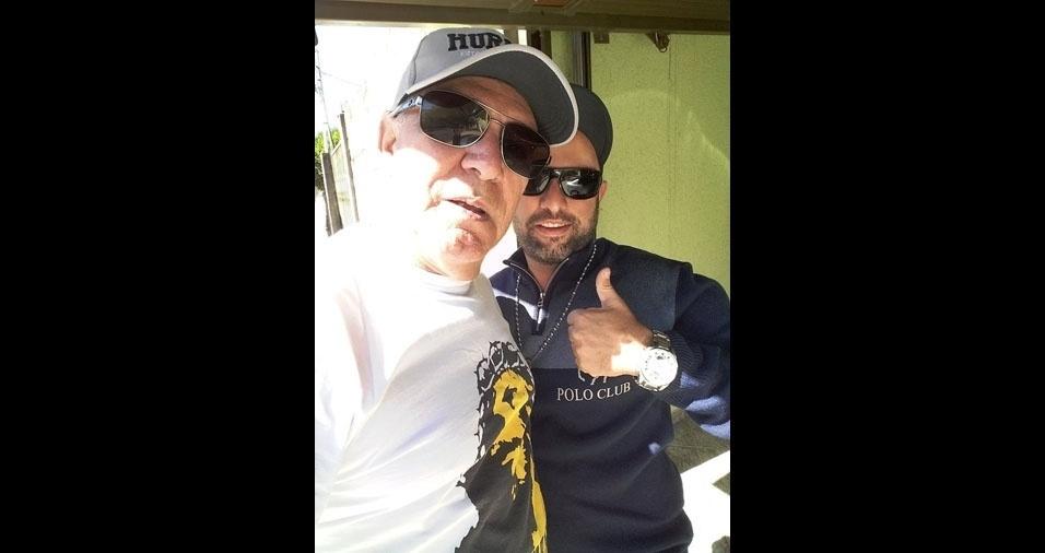 Fernando Henrique com o papai Edson, de Piracicaba (SP)