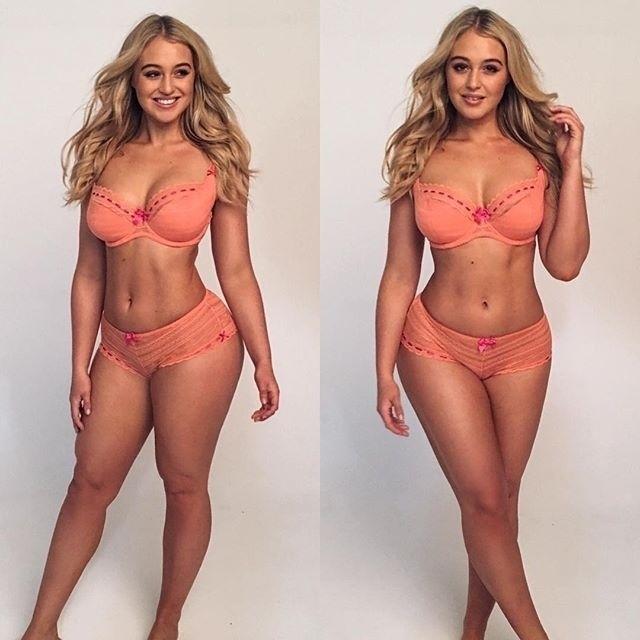 """6.dez.2015 - A modelo de 25 anos Iskra Lawrence vem fazendo sucesso no Instagram ao compartilhar imagens que mostram suas formas avantajadas. A bela, que foi descoberta por um olheiro da revista Elle aos 13 anos, disse ao Daily Mail que quer ajudar as mulheres a ter uma imagem positiva a respeito do corpo delas: """"Eu resolvi aos 18 anos que ao invés de tentar mudar meu corpo para caber em tamanhos menores, eu ia tentar mudar a indústria"""". O Instagram de Iskra tem mais de 447 mil seguidores, prova de que as curvas da gata são bastante apreciadas pelos fãs da internet"""