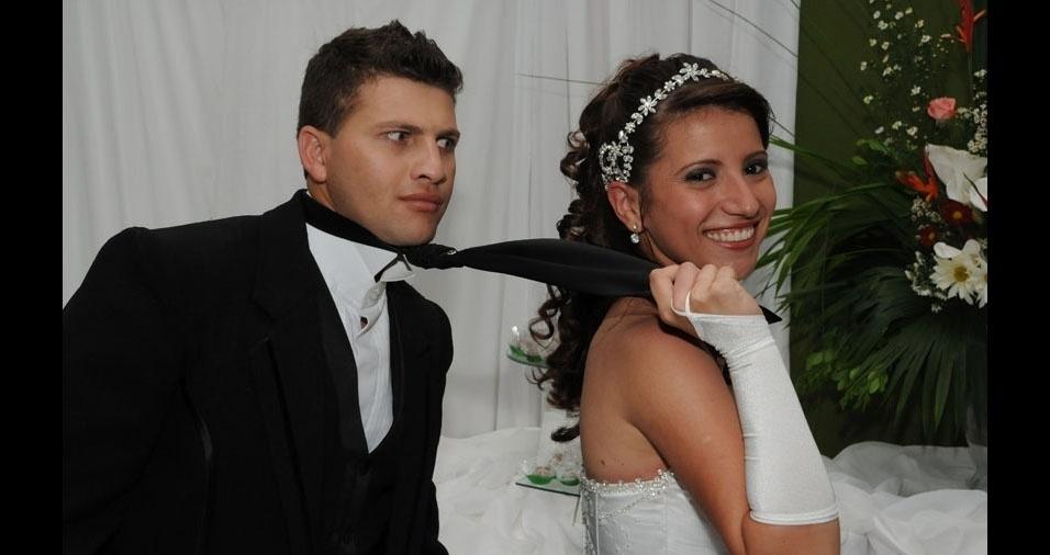Luciésio Pimentel e Vanêssa Kelly casaram-se no dia 11 de dezembro de 2010, em Manhuaçu (MG)