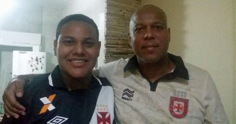 Papai Sérgio e o filho Fabrycio, de São Paulo (SP)