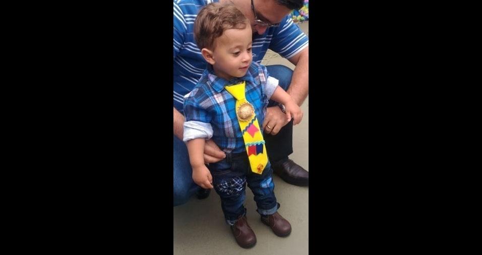 Os pais Tâmara Favarato Abdanur Resende e Fabiano Franciolle Ferreira Resende enviaram a foto do filho Heitor, de Uberaba (MG)