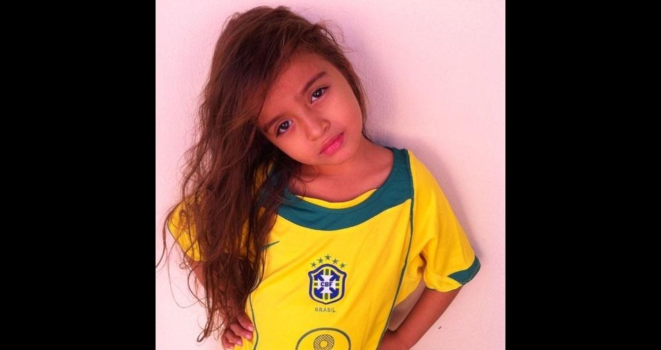 Lavínia, cinco anos, é filha da Mayara Soares da Silva, de Várzea Grande (MT)