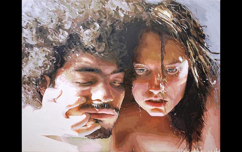 28.jul.2016 - O norte-americano Patrick Earl Hammie pinta nus realistas carregados de sensualidade