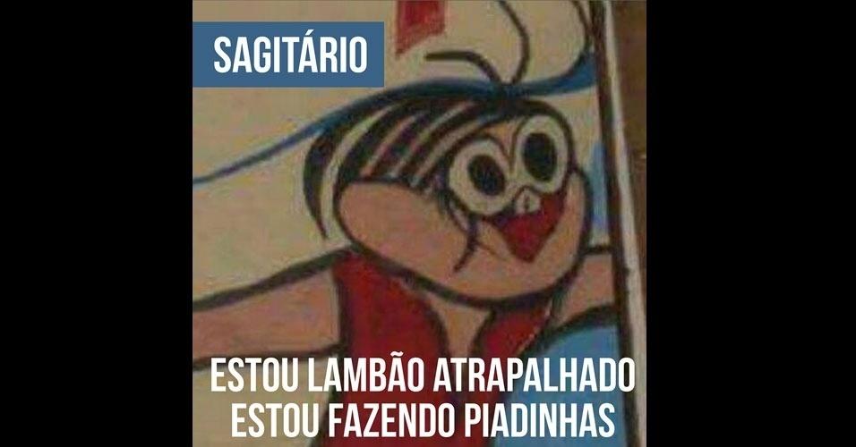 16.fev.2017 - A Mônica deformada de Sagitário