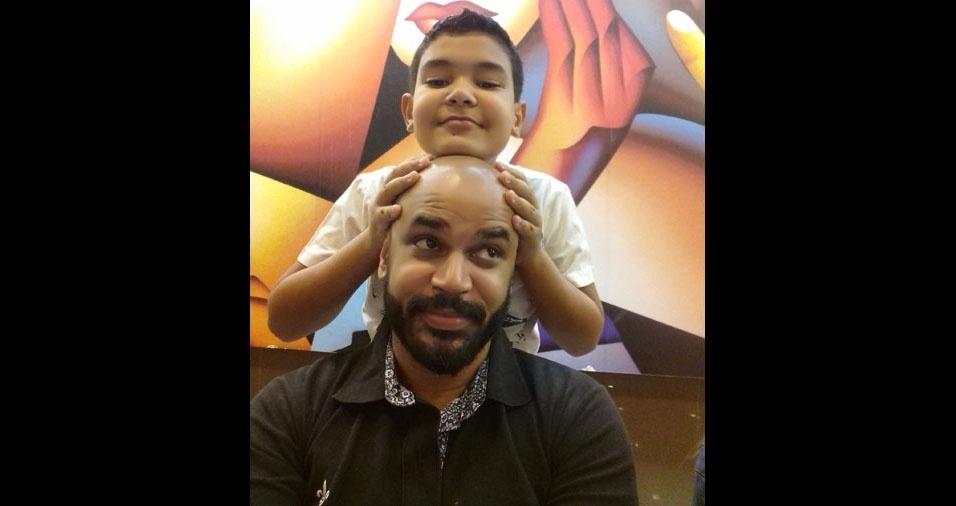 Breno Souza com o papai Roger Souza, de Ribeirão Preto (SP)