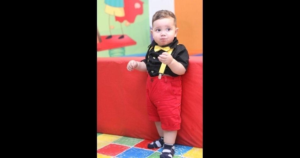 Pedro Lucca, de um ano, filho do Glauco e da Polyana, de Belo Horizonte (MG)