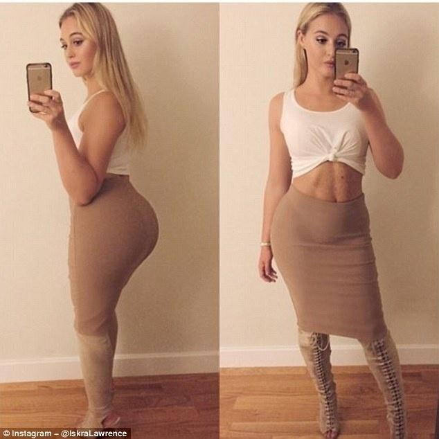 6.dez.2015 - Iskra Lawrence posa no melhor estilo Kardashian