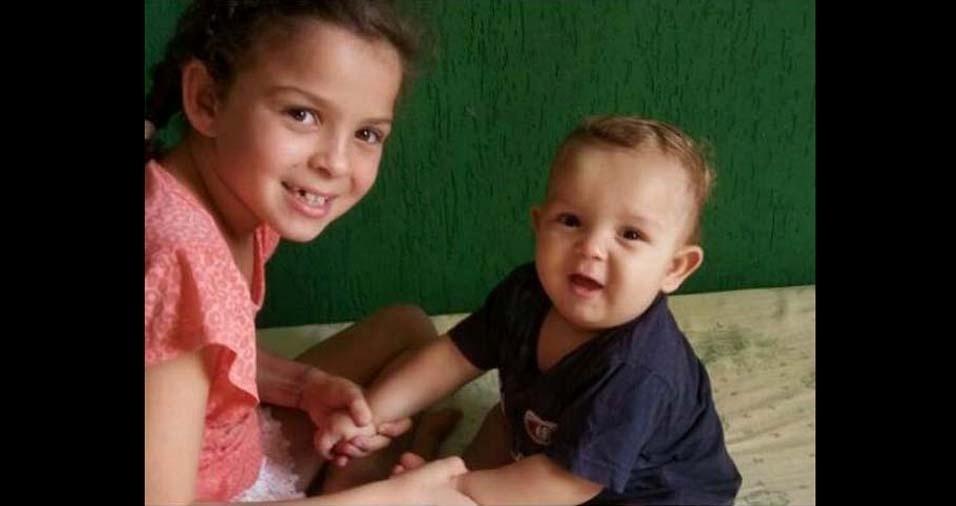 Valéria, de Ibirité (MG), enviou a foto dos filhos Kamily Cynara e Luiz Gabriel