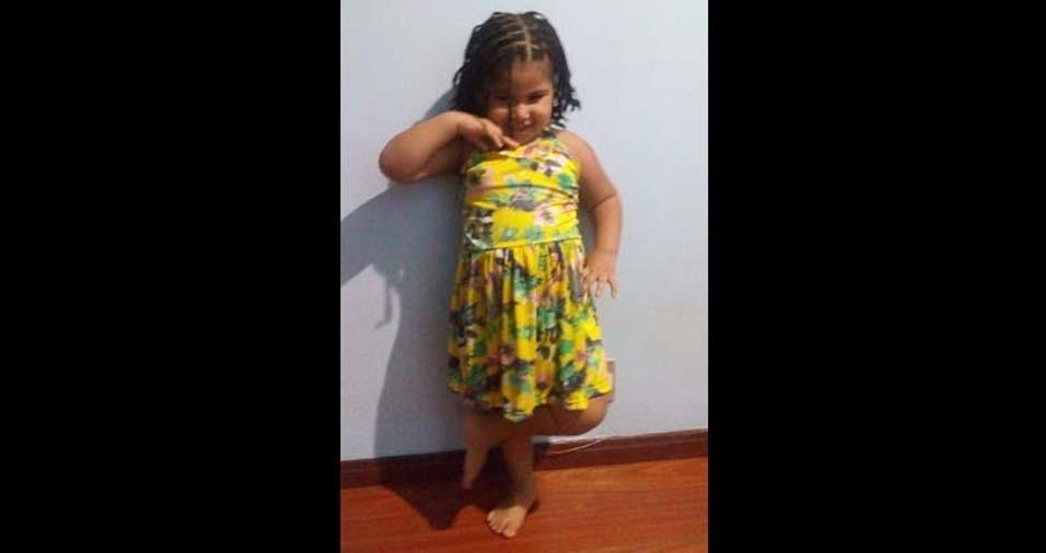 Jorge, de Salvador (BA), enviou foto da filha Jhulia, de quatro anos