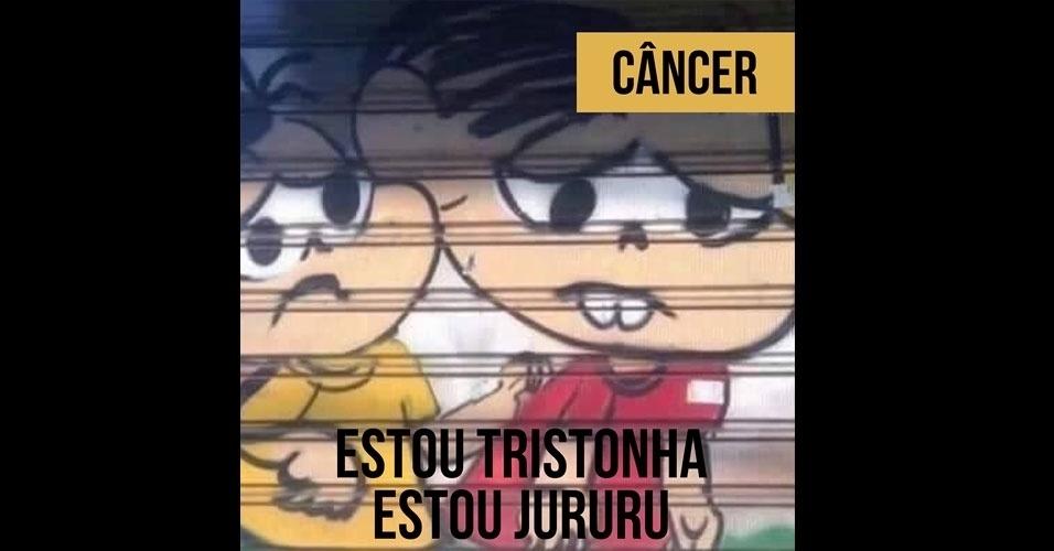 16.fev.2017 - A Mônica deformada de Câncer