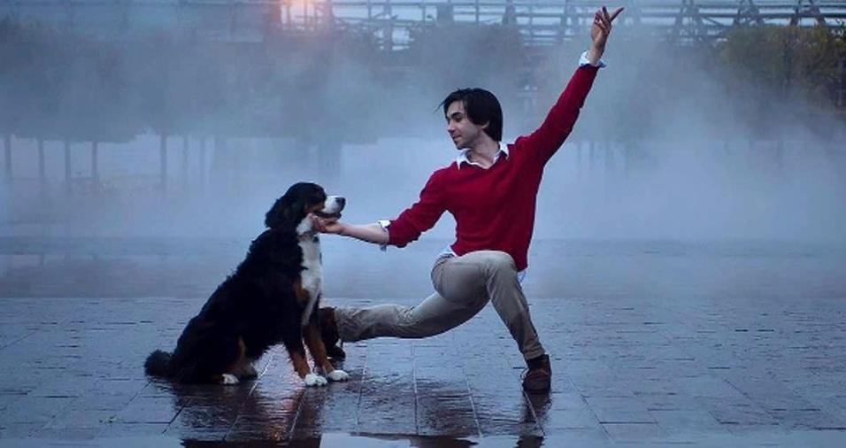 33. O cachorro apareceu por um acaso feliz já ao final da sessão de fotos, mas tornou a imagem perfeita