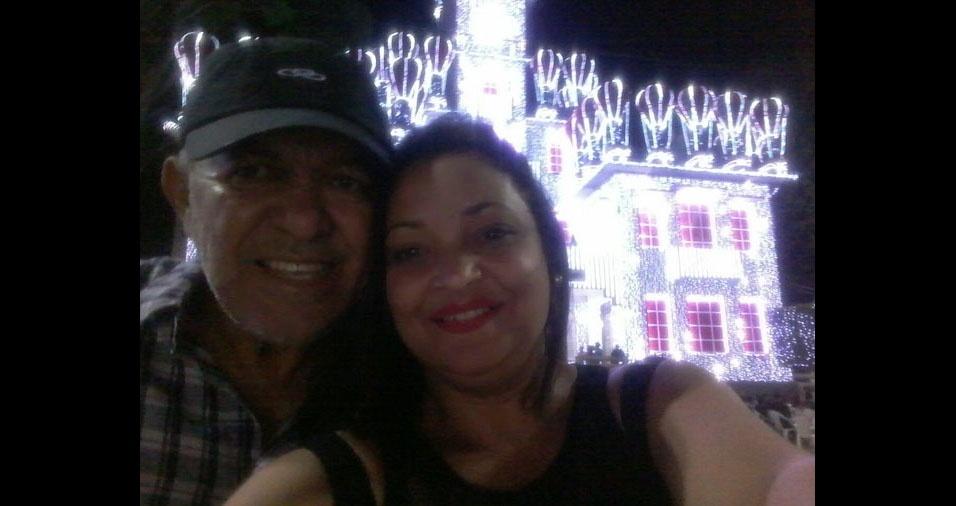 """Elizabete e o noivo José Medeiros mostram a """"magia do Natal em Garanhuns...lindooooo!!!"""""""