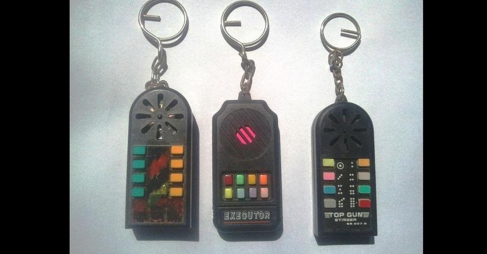 6. E os chaveiros eletrônicos com sons diferentes em cada botão? Eram um inferno!