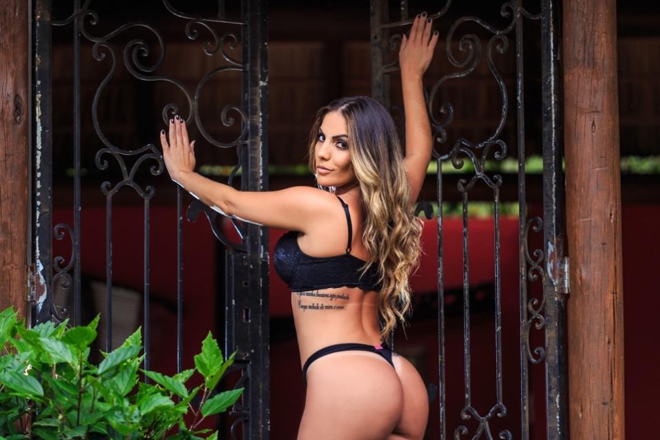 "25.out.2016 - A ex-BBB Anamara já posou para as lentes da ""Playboy"" e ""Sexy"", desta vez, ensaio sensual da Maroca foi publicado no site Diamond Brazil"