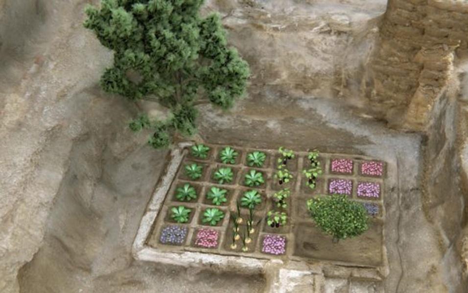 17.mai.2017 - Em uma reconstituição, os pesquisadores mostraram como o jardim seria caso as plantas estivessem vivas