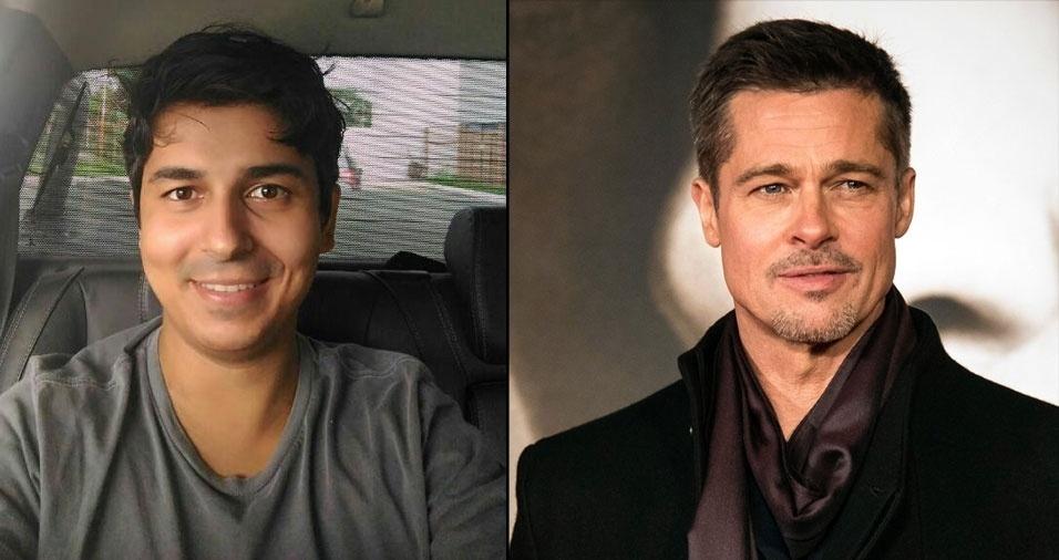 Eron Gonçalves, de Cabo Frio (RJ), muito parecido com Brad Pitt