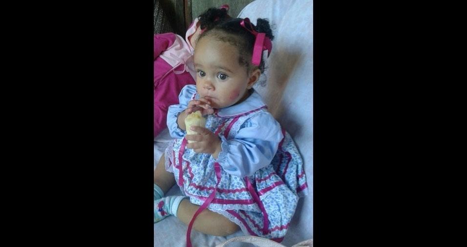 A pequena Sophia, um ano, em foto enviada pelo pai, Márcio de Aguiar, de Agudos (SP)