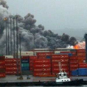 Incêndio atingiu terminal da Localfrio no porto de Santos