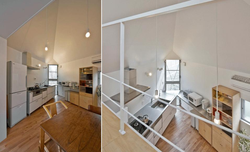 6.fev.2017 - Quina da casa foi usada como bancada e entrada de luz natural no segundo andar