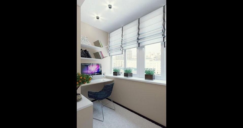 3. Se a luz natural atrapalhar seu trabalho, vale colocar algumas cortinas ou persianas