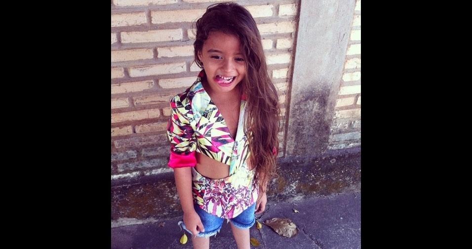 Mayara enviou foto da filha Lavinia Valentina