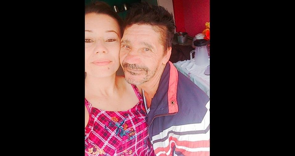 Neide, de Brasília (DF), e seu painho João, de Condeúba (BA)
