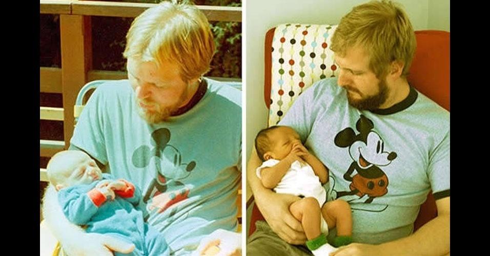 23. O bebê da esquerda é o barbudo da direita