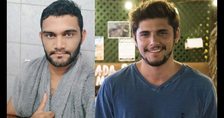 """Antonio Carolino da Silva Neto, de Ribeirão (PE): """"dizem que eu me pareço com o ator Bruno Gissoni"""""""