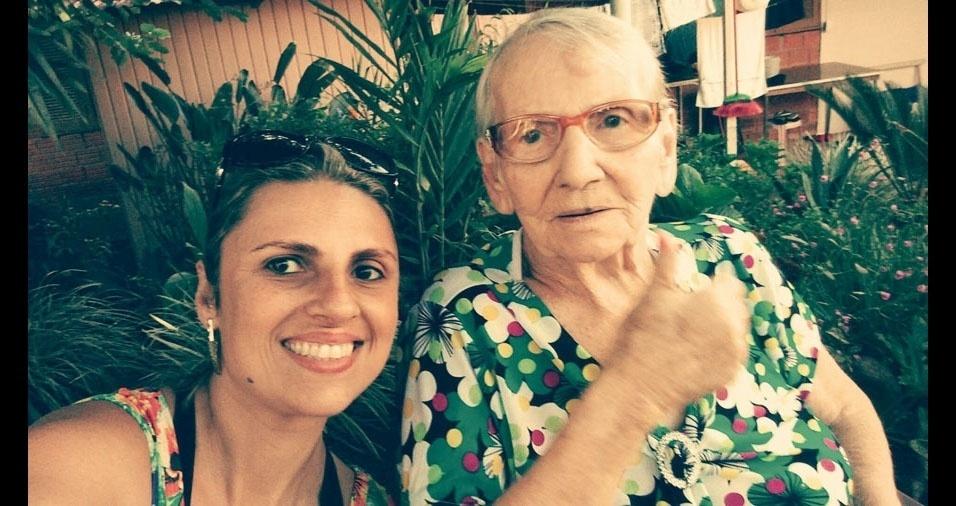 """Mônica Pigatto Batista e a querida avó materna Graciosa Delise Kinast: """"Em setembro ela fará 90 anos"""""""