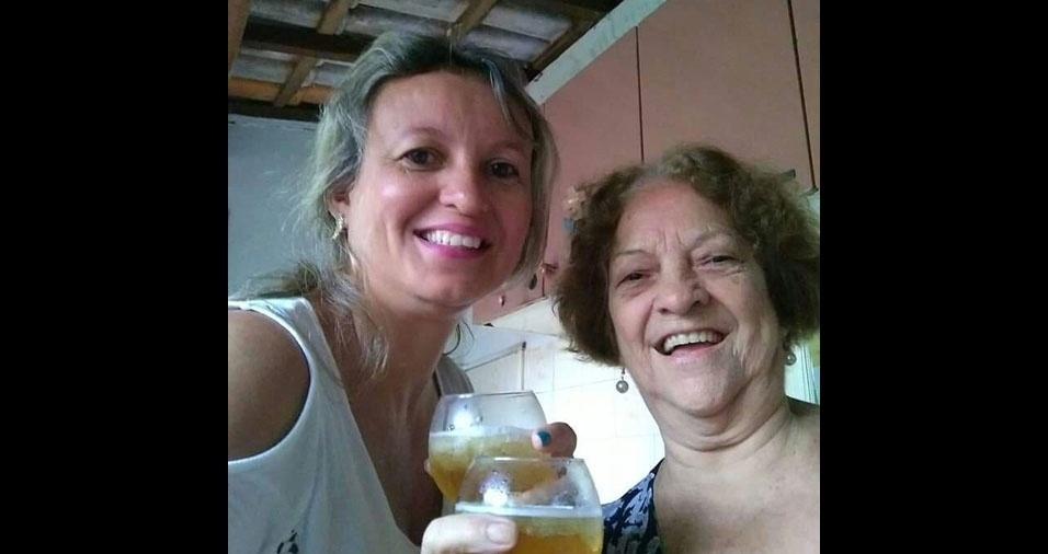 """Andrielle homenageia a mãe Dinorah, de Goiânia (GO): """"Mãe, você me ensinou tudo, menos a viver sem você!  Te amo!"""""""