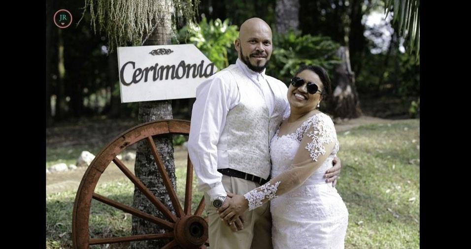 Nelba Vieira Vaz e Marcos Pereira de Souza se casaram em Cambé (PR), em 25 de setembro de 2016
