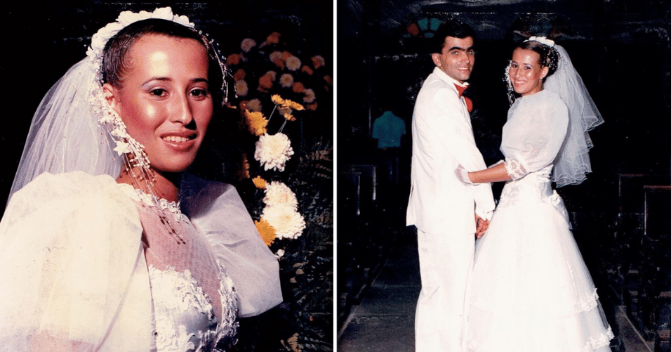 Joseane Veber e Custódio Veber, de Biguaçu (SC), casados desde 28 de março de 1987