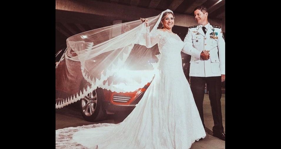 Tatiane Barros Ramalho e Flavio Ramalho dos Santos se casaram em Cuiabá (MT), no dia 2 de fevereiro de 2018
