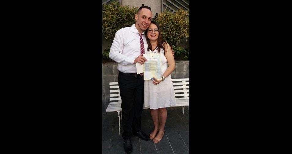 Karina Freire Rodrigues e Anderson de Oliveira Rodrigues se casaram no dia 2 de setembro de 2017, em Guarulhos (SP)
