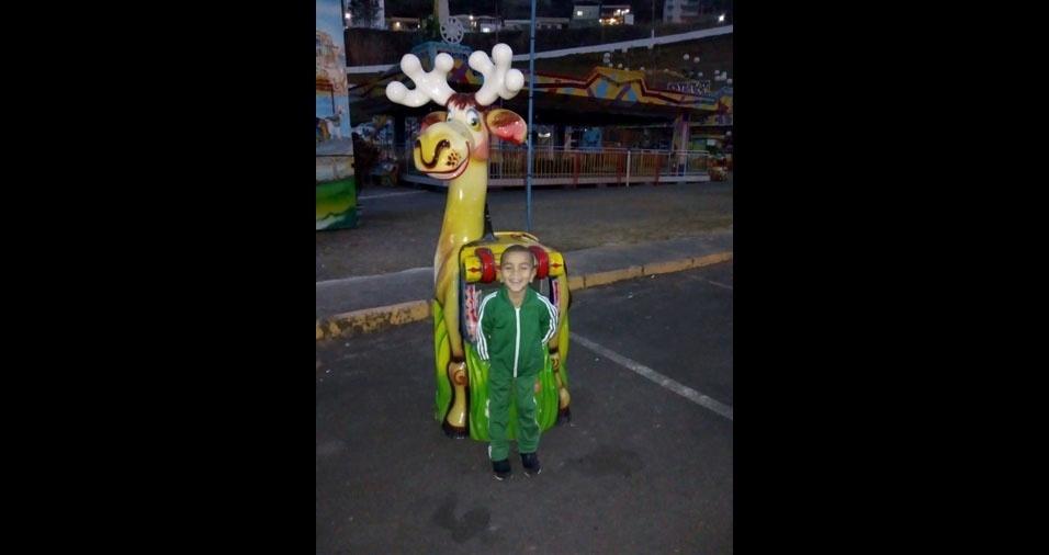 Alessandro e Viviane, de Juiz de Fora (MG), enviaram foto do filho Rainer, de quatro anos